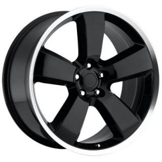 FACTORY REPRODUCTIONS WHEELS  DODGE CHARGER SRT8 STYLE 61 BLACK RIM with MACHINED LIP