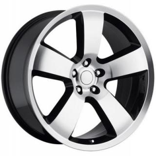 FACTORY REPRODUCTIONS WHEELS  DODGE CHARGER MACHINED BLACK RIM