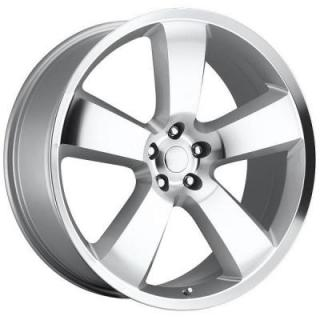FACTORY REPRODUCTIONS WHEELS  DODGE CHARGER SRT8 STYLE 61 SILVER MACHINED FACE RIM