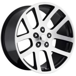 FACTORY REPRODUCTIONS WHEELS  DODGE RAM SRT10 STYLE 60 BLACK MACHINED FACE RIM
