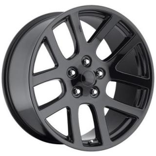 FACTORY REPRODUCTIONS WHEELS  DODGE RAM SRT10 STYLE 60 GLOSS BLACK RIM