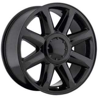 FACTORY REPRODUCTIONS WHEELS  GMC DENALI STYLE 38 GLOSS BLACK RIM