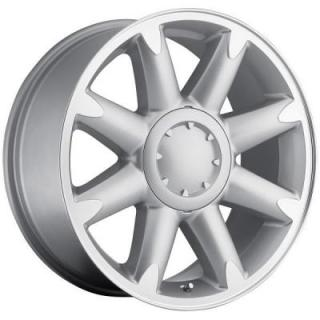 FACTORY REPRODUCTIONS WHEELS  GMC DENALI SILVER RIM with MACHINED FACE