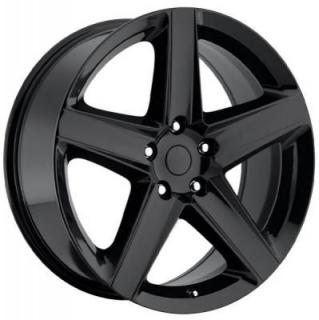 FACTORY REPRODUCTIONS WHEELS  JEEP SRT8 STYLE 63 GLOSS BLACK RIM