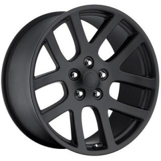 FACTORY REPRODUCTIONS WHEELS  DODGE LX VIPER STYLE 64 SATIN BLACK RIM