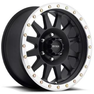 METHOD WHEELS  MR304 DOUBLE STANDARD BLACK RIM with MACHINED LIP