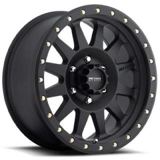 METHOD WHEELS  MR304 DOUBLE STANDARD MATTE BLACK RIM