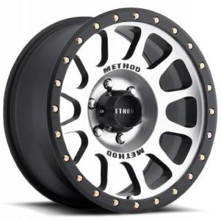 METHOD WHEELS  MR305 NV MACHINED RIM with MATTE BLACK LIP