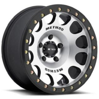 METHOD RACE WHEELS  RACE MR105 BEADLOCK MATTE BLACK MACHINED RIM