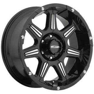 PRO COMP ALLOYS WHEELS  DISTRICT SERIES 8151 GLOSS BLACK RIM with MACHINED ACCENTS
