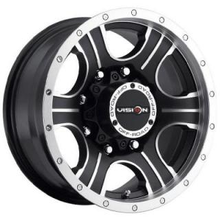 VISION WHEELS - EARLY BLACK FRIDAY SPECIALS!   ASSASSIN 396 RWD OFF-ROAD MATTE BLACK RIM with MACHINED FACE