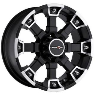 V-TEC WHEELS  BRUTAL 392 RWD MATTE BLACK RIM with MACHINED FACE