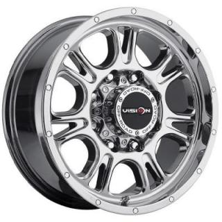 V-TEC WHEELS  FURY 399 RWD PHANTOM CHROME RIM