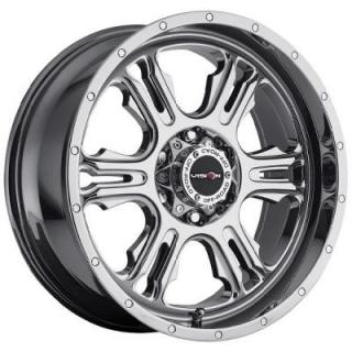 V-TEC WHEELS  RAGE 397 RWD PHANTOM CHROME RIM