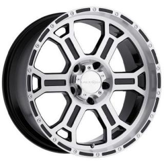 V-TEC WHEELS  RAPTOR 372 RWD GLOSS BLACK RIM with MACHINED FACE and LIP