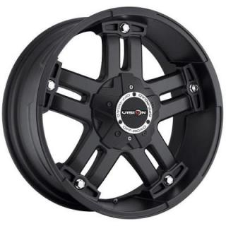 WARLORD 394 RWD MATTE BLACK RIM with COVERED CAP from V-TEC WHEELS