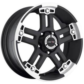 WARLORD 394 RWD MATTE BLACK RIM with MACHINED FACE from V-TEC WHEELS