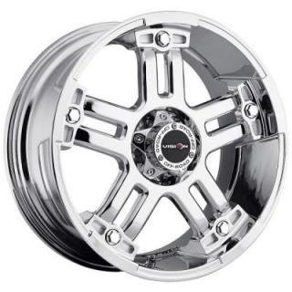 V-TEC WHEELS  WARLORD 394 RWD PHANTOM CHROME RIM