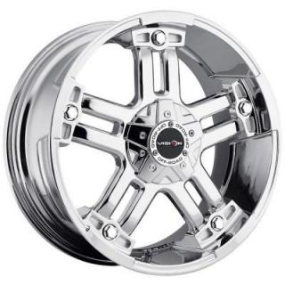 WARLORD 394 RWD PHANTOM CHROME RIM with COVERED CAP from V-TEC WHEELS