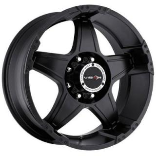 VISION WHEELS  WIZARD 395 RWD OFF-ROAD MATTE BLACK RIM