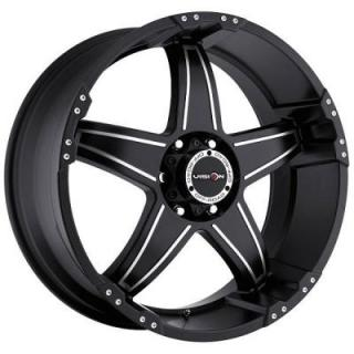 VISION WHEELS  WIZARD 395 RWD OFF-ROAD MATTE BLACK RIM with MACHINED FACE