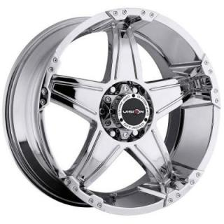 V-TEC WHEELS  WIZARD 395 RWD PHANTOM CHROME RIM