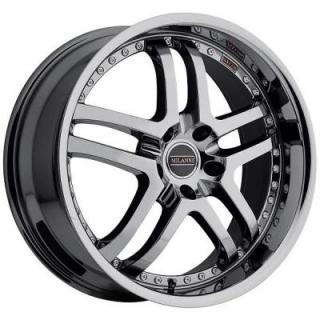 MILANNI WHEELS  KAPRI 9012 FWD PHANTOM CHROME RIM