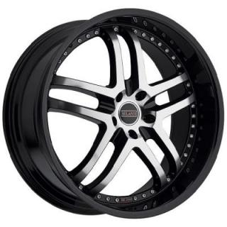 MILANNI WHEELS  KAPRI 9012 FWD GLOSS BLACK RIM with MACHINED FACE and BLACK LIP