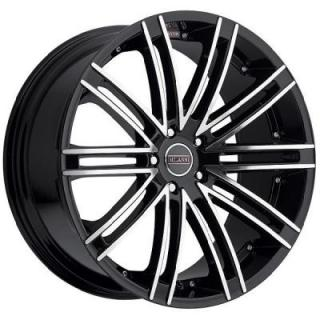 MILANNI WHEELS  KAHN 9032 FWD GLOSS BLACK RIM with MIRROR MACHINED FACE