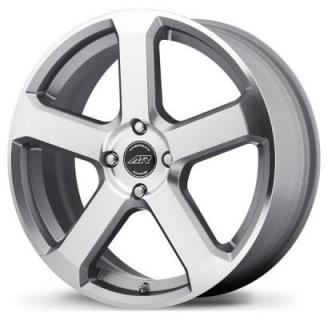 SPECIAL BUY WHEELS  AMERICAN RACING AR896 DARK SILVER RIM with MACHINED FACE PPT