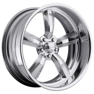 RACELINE WHEELS   BLAST 5 POLISHED RIM