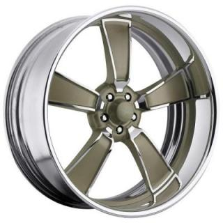 RACELINE WHEELS   BURST 5 GOLD RIM with POLISHED FINISH