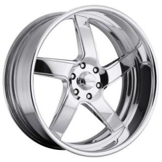 RACELINE WHEELS  ILLUSION POLISHED RIM