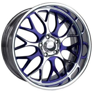RACELINE WHEELS  LEGACY PURPLE RIM with POLISHED FINISH