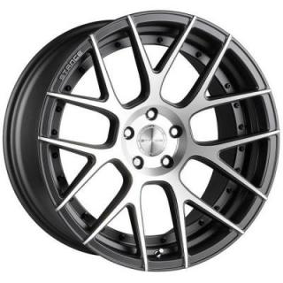 STANCE WHEELS   SC-8 SLATE GREY RIM with MACHINED FACE