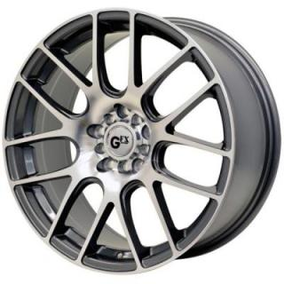 SPECIAL BUY WHEELS  GFX G20 GUN METAL/MACHINED