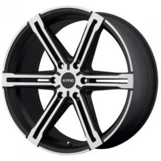 KM686 FACTION SATIN BLACK RIM with MACHINED FACE from KMC WHEELS