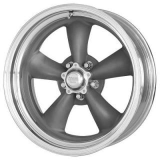 VN215 CLASSIC TORQ THRUST II 1 PC GRAY CENTER RIM with POLISHED BARREL from AMERICAN RACING WHEELS