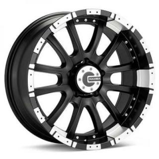 SPECIAL BUY WHEELS  MAMBA M12 MATTE BLACK RIM with MACHINED LIP PPT