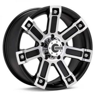 SPECIAL BUY WHEELS  MAMBA M1X MATTE BLACK RIM with MACHINED FACE PPT