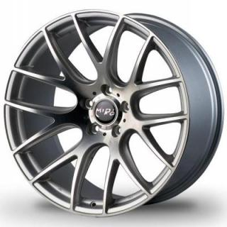 MIRO WHEELS  TYPE 111 SILVER RIM with MACHINED POLISHED FACE
