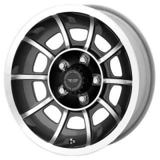 AMERICAN RACING WHEELS  VN47 VECTOR ANTHRACITE RIM with MACHINED FACE