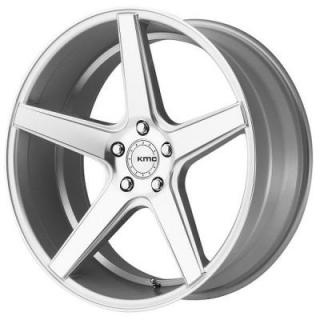 KM685 DISTRICT SILVER RIM with MACHINED FACE by KMC WHEELS