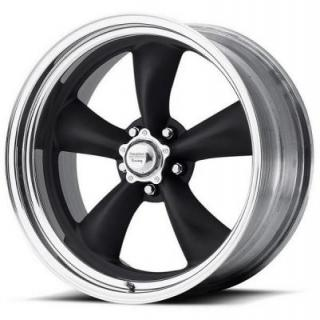 AMERICAN RACING WHEELS  VNB405 TORQ THRUST II 2-PC BLACK RIM with POLISHED LIP