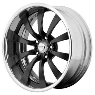 AMERICAN RACING WHEELS  VF499 FORGED BLACK POLISHED SOFT LIP RIM