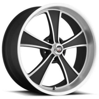 REV WHEELS  CLASSIC 106 MATTE BLACK RIM with MACHINED FACE 17