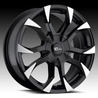 SPECIAL BUY WHEELS  RACELINE 198B VECTOR BLACK RIM with MACHINED ACCENTS PPT