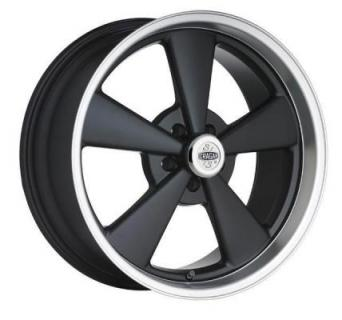 SPECIAL BUY WHEELS  CRAGAR 610B LATEMODEL S/S SUPER SPORT BLACK RIM with MACHINED LIP PPT