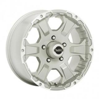 SPECIAL BUY WHEELS  BLACK ROCK 910S INTRUDER SILVER RIM with MACHINED ACCENTS PPT