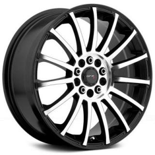 DRIFZ WHEELS  306MB HALO GLOSS BLACK RIM with MACHINED FACE